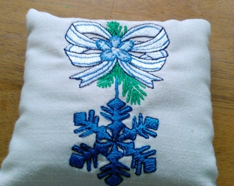 Pillow fragrant balsam sachet, gift, all natural, eco friendly, aroma therapy, Christmas decor