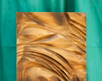 Wood wall art, home decor, bas-relief sculpture, wood carving