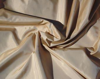 taffeta, copper/white shot effect, polyester