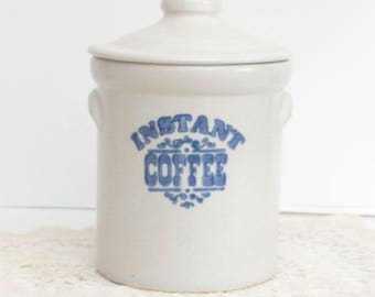 Vintage Instant Coffee Crock with Lid in Yorktowne (USA) by Pfaltzgraff
