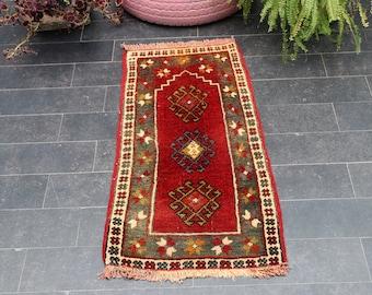 FREE SHIPPING 1.7 x 3.1 Bohemian Rug, Anatolian Handmade Rug, Oushak Rug, Handmade Soft Wool Turkish Rug,  Aztec Rug, Anatolian Rug,No 1022