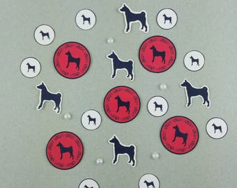 "Big sticker Set ""Basenji"""