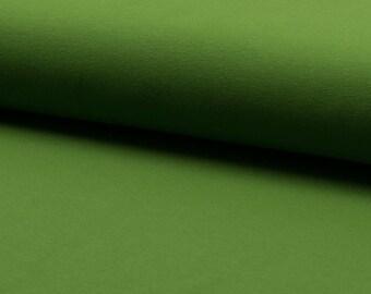 0, 5m Jersey uni moss green kiwi smooth elastic