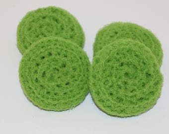Scrubbies Crochet Set of 4 Lime Green Color