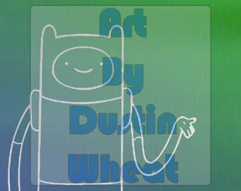 Finn the Human - Adventure Time Metallic Print