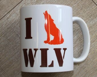 Wolves, I loves Wolves mug, Wolverhampton mug featuring the cities emblem
