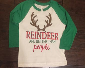 Reindeer shirt, Christmas shirt, rudolf, sven, reindeer are better than people, frozen, Disney shirt, Mickey's Verry merry Christmas