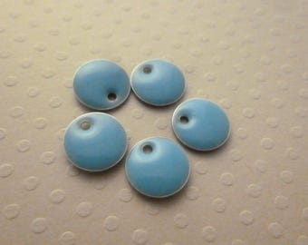 Set of 5 sequins Blue 10mm - BE-0705