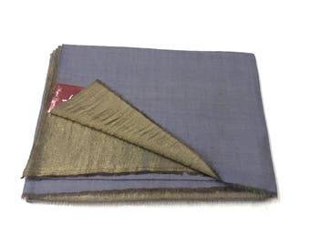 Zari Weave Reversible Pure Pashmina/Cashmere Shawl/Wrap