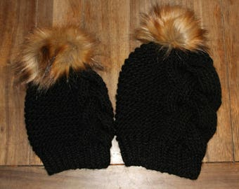 Mommy and me beanie set
