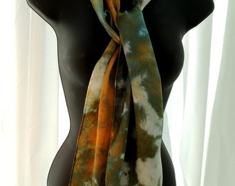 Ice Dyed Silk Scarf