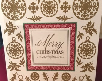 Christmas handmade pop up card. Merry Christmas