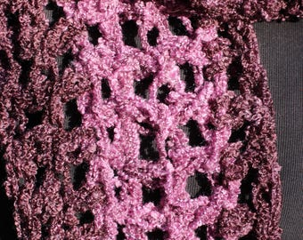 Purple scarf wrap