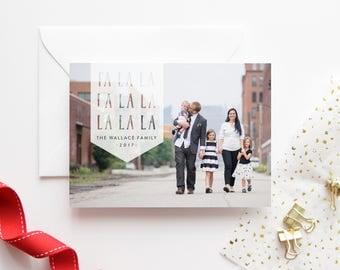 Christmas Cards - Family Photo Cards - Fa La La - Custom Photo Card - Personalized Christmas Card - Photo Holiday Cards - Holiday Photo Card