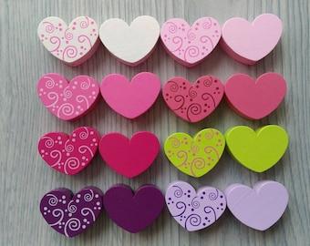 Pearl Heart motif 3cm