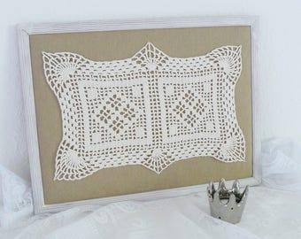 Picture ' nostalgia ' lace collage picture frame unique handmade