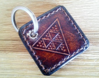 Keychain, Keychain, handmade, hand-engraved gift for him, gift for her