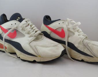 Nike Air Max Shoes (VTG) - White and Hot Pink Colorway - Samples - Men's Size 10