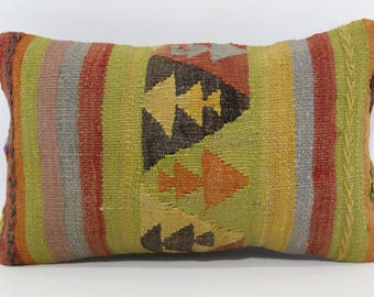 12x20 Striped Kilim Pillow Decorative Kilim Pillow 12x20 Naturel Kilim Pillow Bohemian Kilim Pillow Sofa Pillow Cushion Cover  SP3050-1001