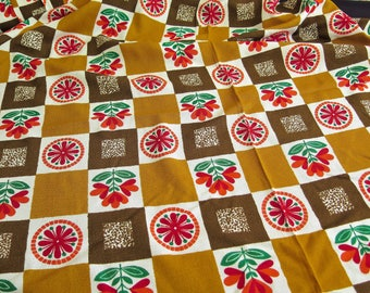 Kitchen-curtain fabric - Sixties - Vintage Flower Power fabric