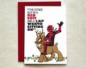 Deadpool Christmas Card (Individual & Card Set), Deadpool Santa Card, Christmas Card