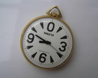 Vintage Ussr Watch RAKETA Big ZERO POCKET - Serviced