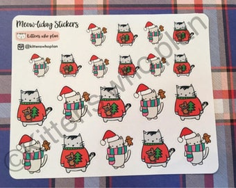 Meow-liday Stickers