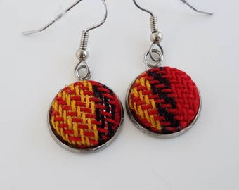 Wrap Scrap Jewelry - Earrings - Pretty Paisley - Bravest Heart - Wrap Scrap - Babywearing - Handwoven - Tartan - Plaid - Wizard