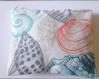 Seashell, makeup bag, cosmetic bag