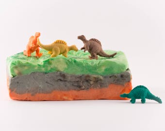 Dinosaur archeology palaeontology soap gift for kids gift for him gift for her bath product vegan