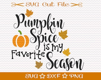 Pumpkin Spice SVG / Thanksgiving SVG Cut File / Fall SVG Cutting File / Svg for Thanksgiving / Autumn Svg / Change of Seasons / Holidays