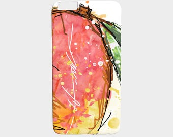 Light MANGO cell case / polycarbonate / safe and lightweight / IPhone or Samsung / illustrated by hand