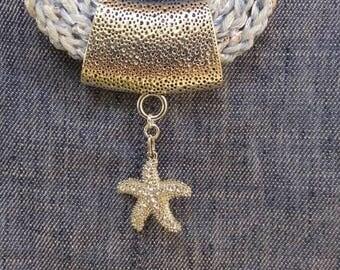 Handmade crochet necklace.