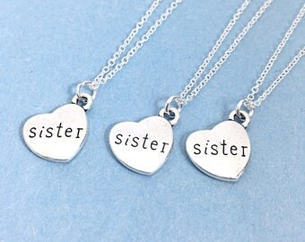 Sister Gift Jewelery Set For 3,Sister Necklace Charm Jewelry,Sister Necklace for 3,Sister Jewelry,Sister Charm,3 Sisters,Charm Necklace Gift