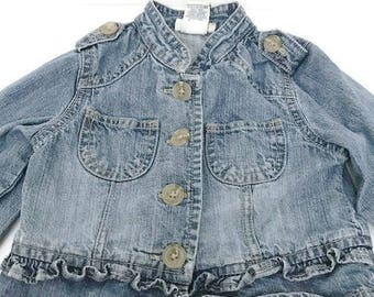 wash Baby denim blouse by cherokee Size 12 Months Vintage Baby Top