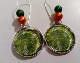 earring dangle tropical cabochon