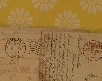 3 Vintage Indiana Postcards