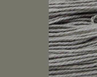 Wool yarn, grey | bulky 2-ply worsted quick-knit pure wool yarn 100g/130m