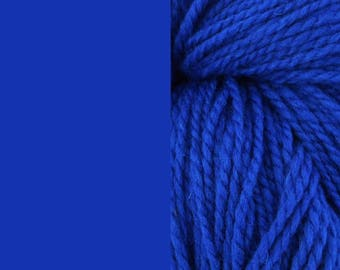 Wool yarn, royal blue | bulky, 2 ply worsted quick knit pure wool yarn 100g/130m