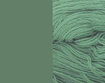 Wool Yarn, green-grey, DK, 3-ply worsted knitting yarn 8/3 100g/130m