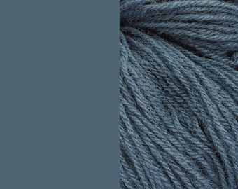 Wool Yarn, dusty jeans, DK, 3-ply worsted knitting yarn 8/3 100g/130m