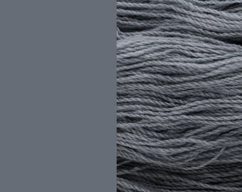 Wool Yarn, graphite grey, fingering 2-ply 8/2 worsted pure wool 100g/350m