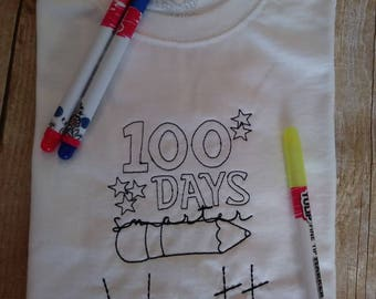 Clelebrate 100 days of school color me tshirt