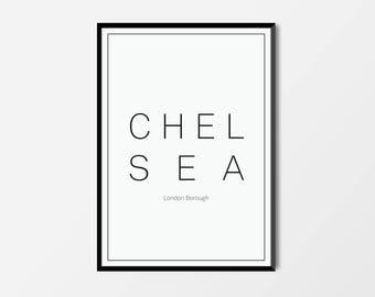 Chelsea, London Borough | London Print | London Artwork | London Illustration | Architecture Print | City Print