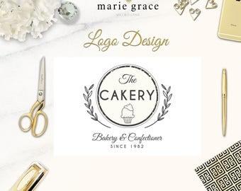 Bakery Logo Design, Cup Cake Logo Design, Cake Maker Logo Design, Branding Pack