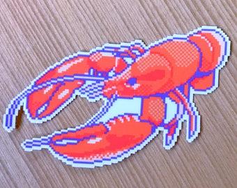 lobster sticker feat. pixel art by bitmapdreams