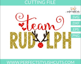 Team Rudolph SVG, DXF, EPS, png Files for Cutting Machines Cameo or Cricut - Christmas Svg, Reindeer Svg, Boy Christmas Svg