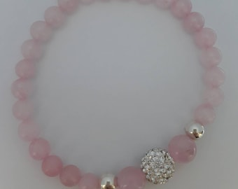Rose Quartz Gemstone stretch bracelet