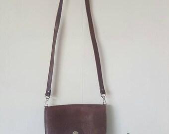 Leather bag strap long Labbé Mexico 80's vintage