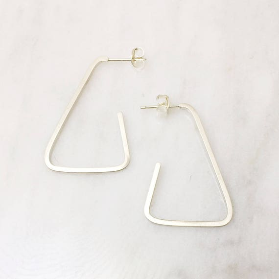 Modern Hoop Earring - Triangular